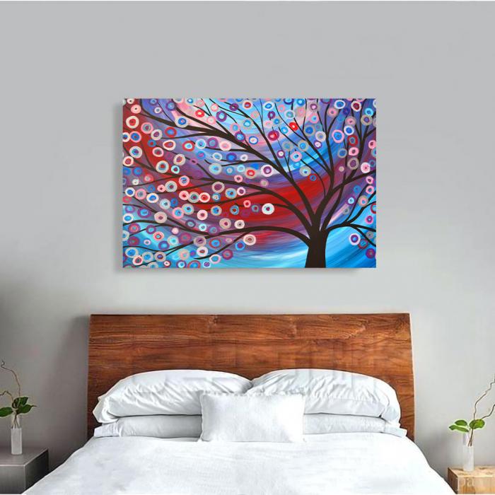 Tablou Canvas - Copac inflorit minimalist [3]