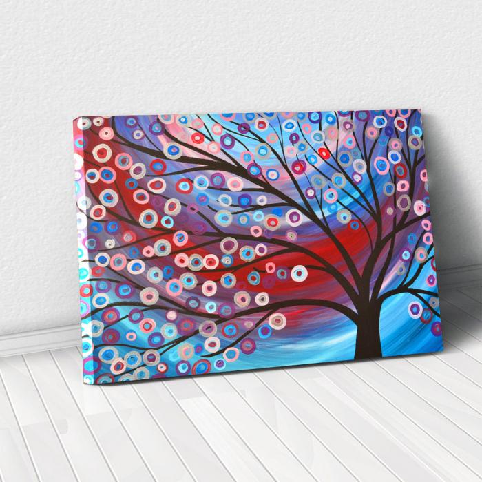Tablou Canvas - Copac inflorit minimalist [0]