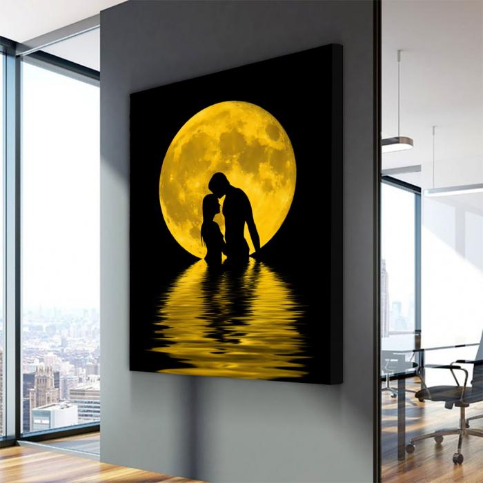 Tablou Canvas - Iubire sub luna 3