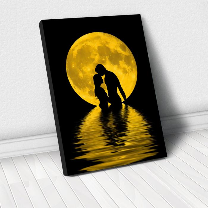 Tablou Canvas - Iubire sub luna 0
