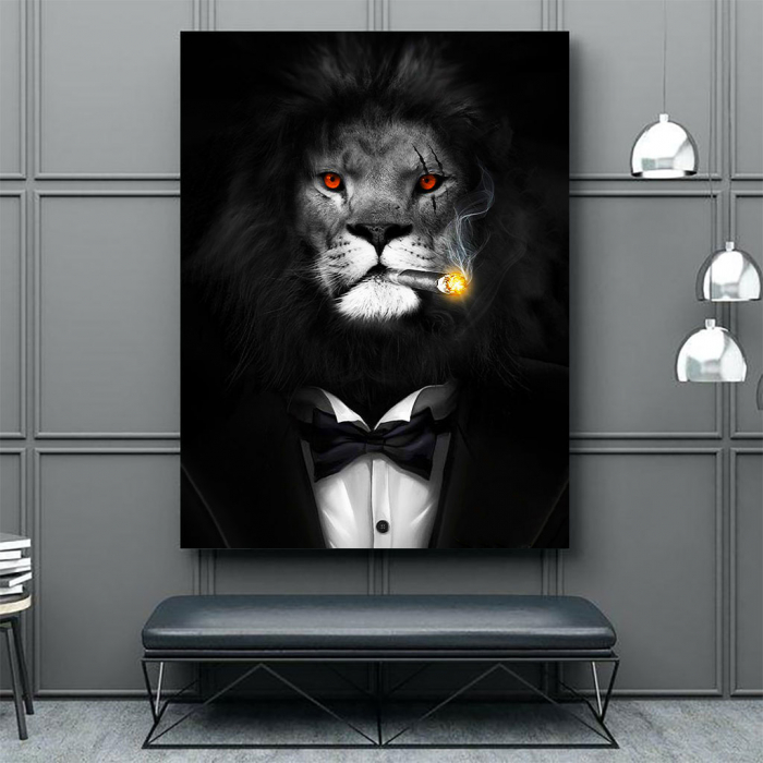 Tablou Canvas - Mob Lion 4