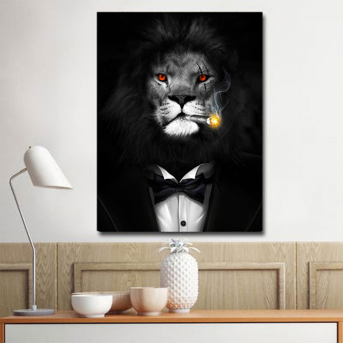 Tablou Canvas - Mob Lion 1