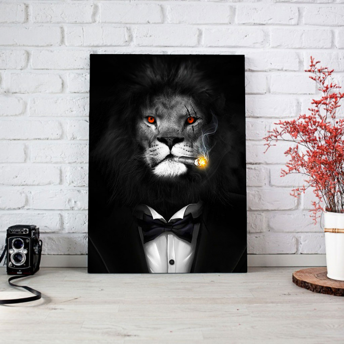 Tablou Canvas - Mob Lion 3