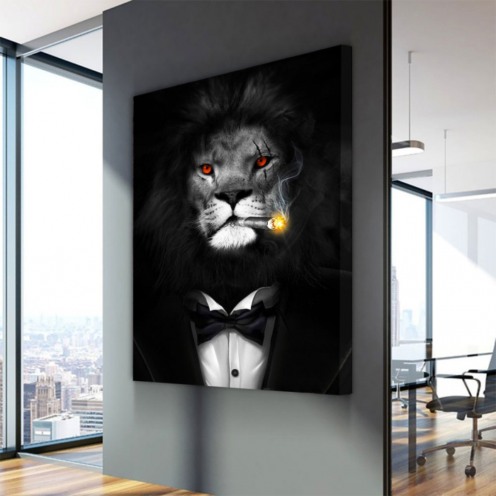 Tablou Canvas - Mob Lion 2