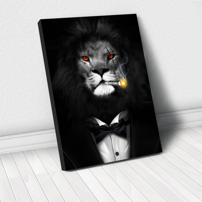 Tablou Canvas - Mob Lion 0