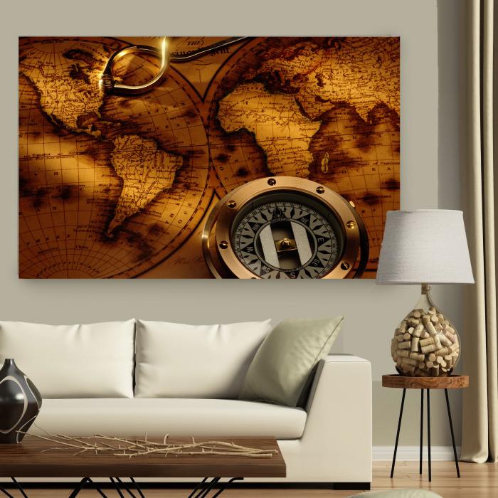 Tablou Canvas - Vintage Compas 3