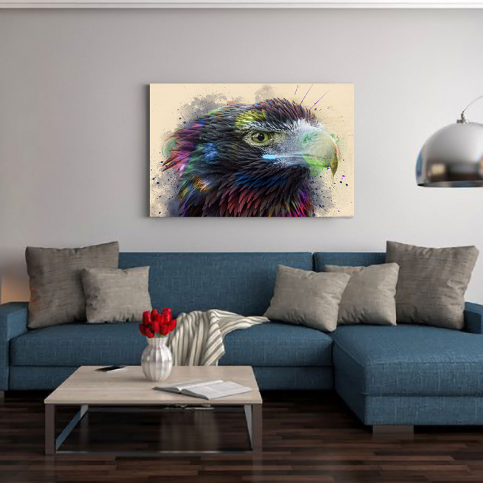 Tablou Canvas - Vultur - Cromatica 1