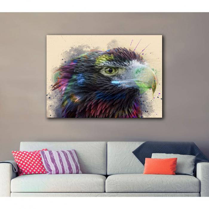 Tablou Canvas - Vultur - Cromatica 2