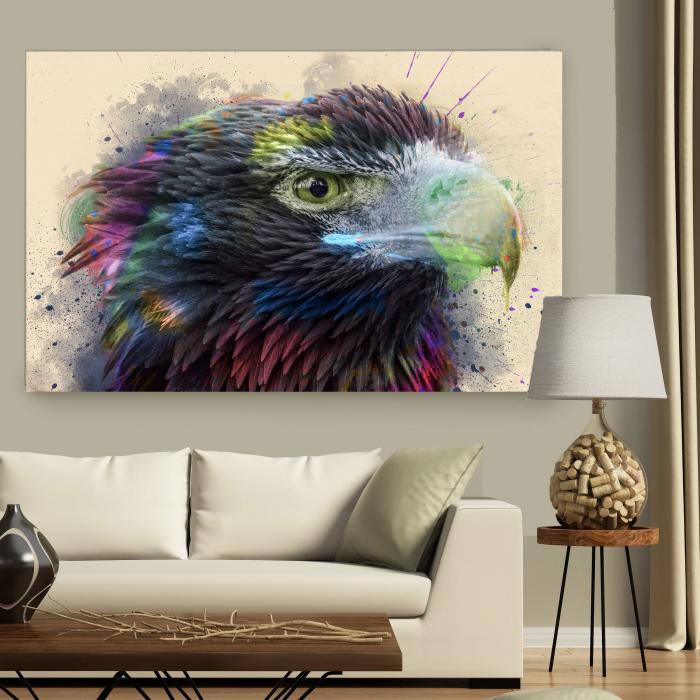 Tablou Canvas - Vultur - Cromatica 3