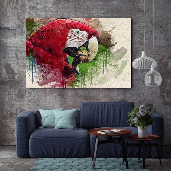 Tablou Canvas - Wild Parrot 2