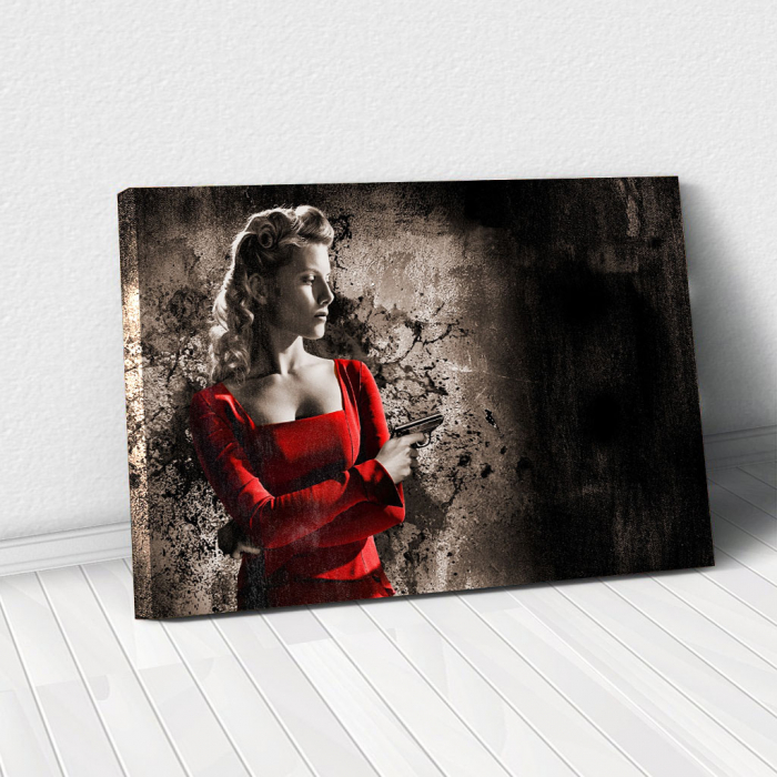 Tablou Canvas - Woman in Red 0