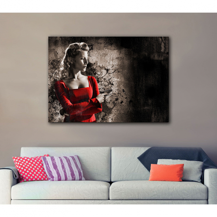 Tablou Canvas - Woman in Red 2