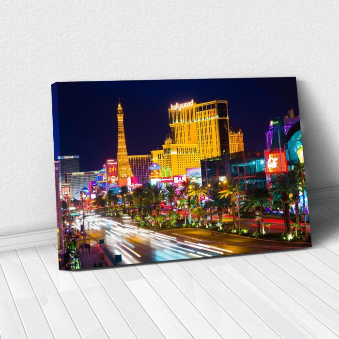 Tablou Canvas - Las Vegas Timelapse 0