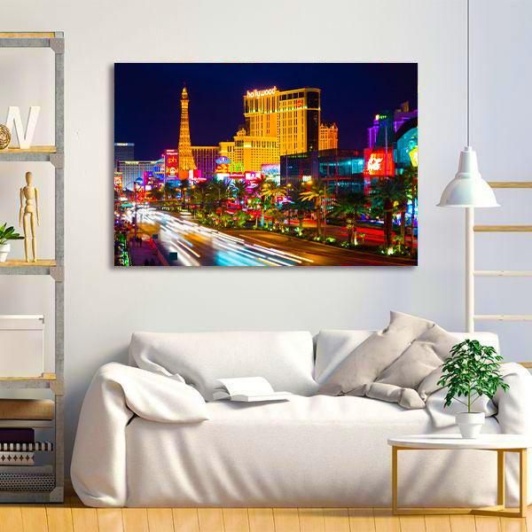 Tablou Canvas - Las Vegas Timelapse 2