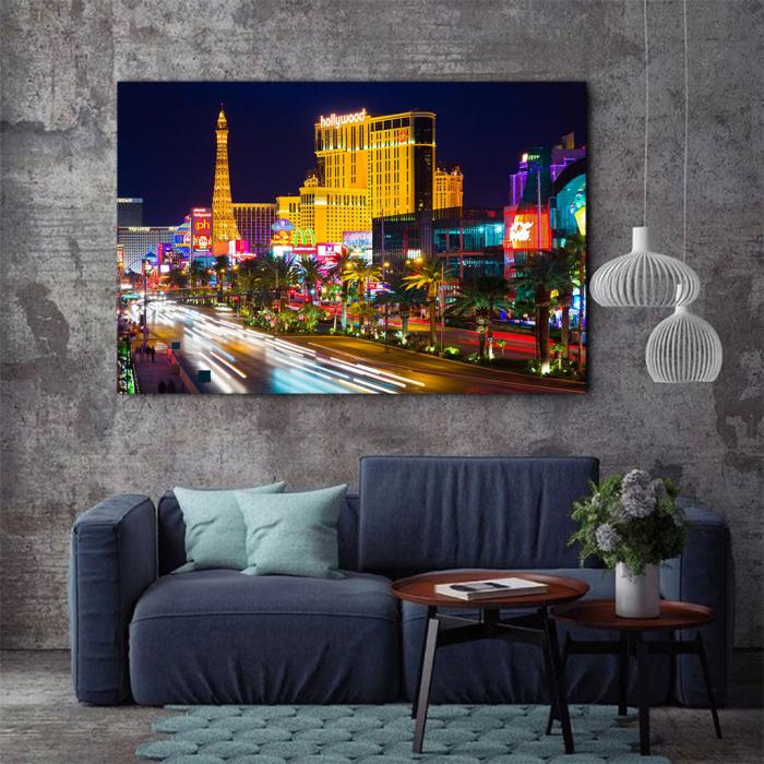 Tablou Canvas - Las Vegas Timelapse 1