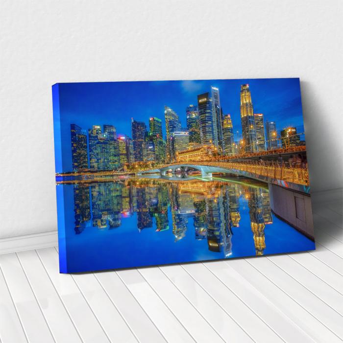 Tablou Canvas - Singapore marina bay 0