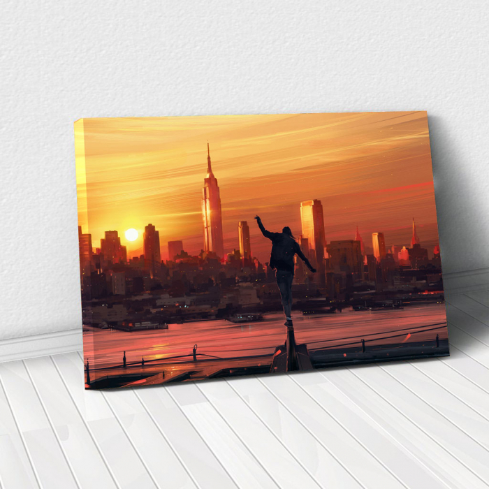 Tablou Canvas - King of the city 0