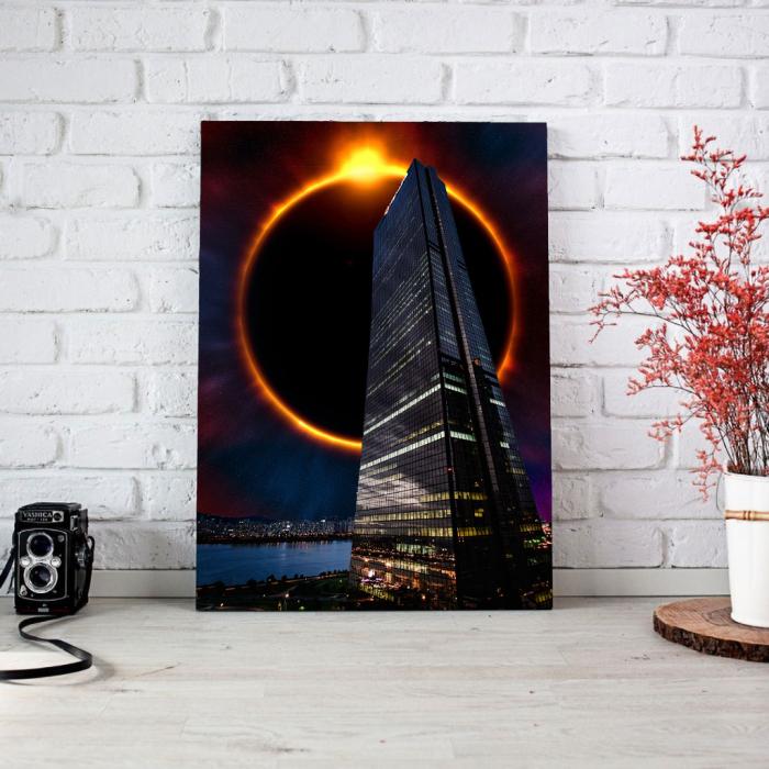 Tablou Canvas - Skyline eclipse 1