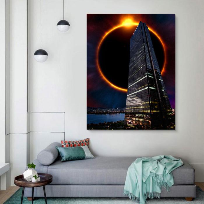 Tablou Canvas - Skyline eclipse 2