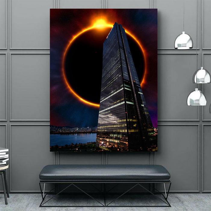Tablou Canvas - Skyline eclipse 3
