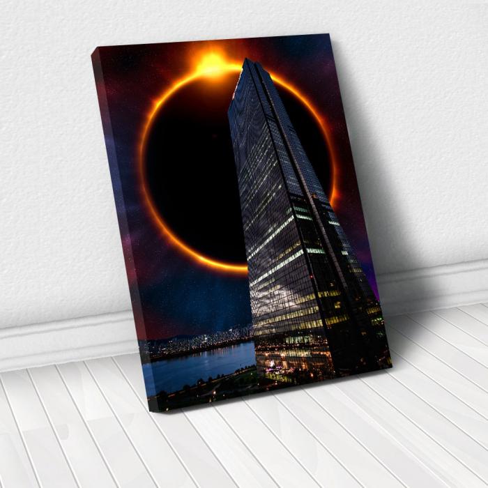 Tablou Canvas - Skyline eclipse 0