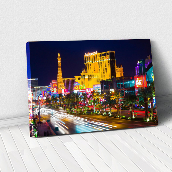 Tablou Canvas - Vegas in the night 0