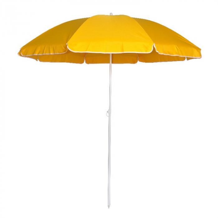 Umbrelă de plajă, 1.8 m,galbenă 0