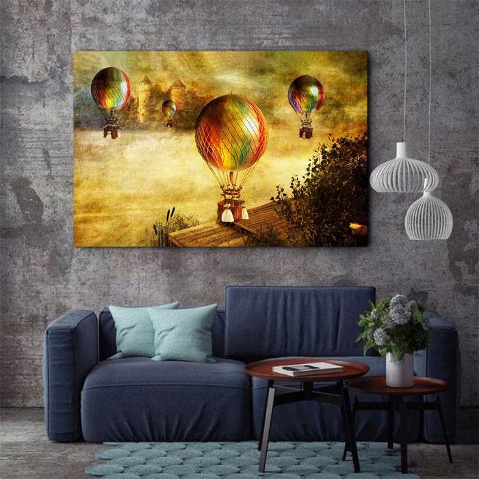 Tablou Canvas - Vintage baloons 2