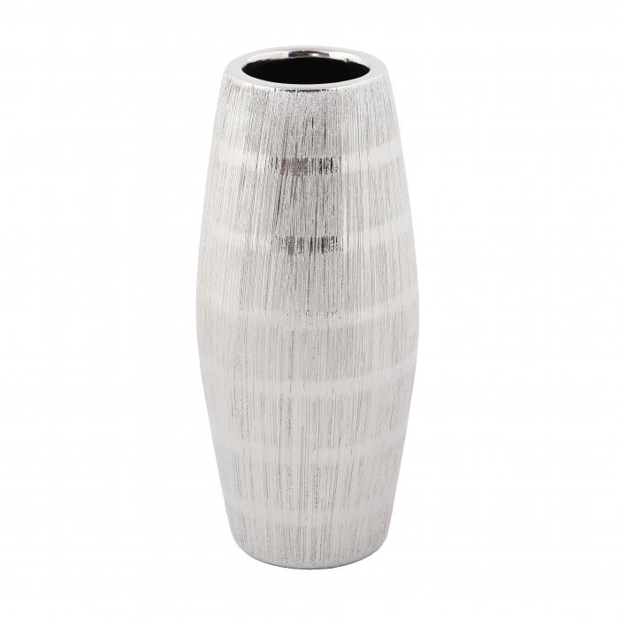 Vază decorativă argintie 0