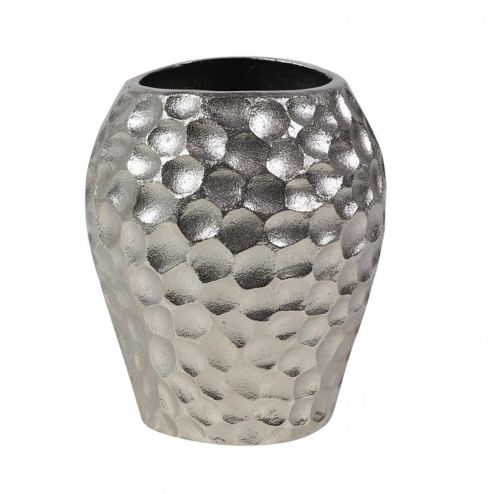 Vază decorativă din aluminiu,argintie,19 x 21.5 [0]