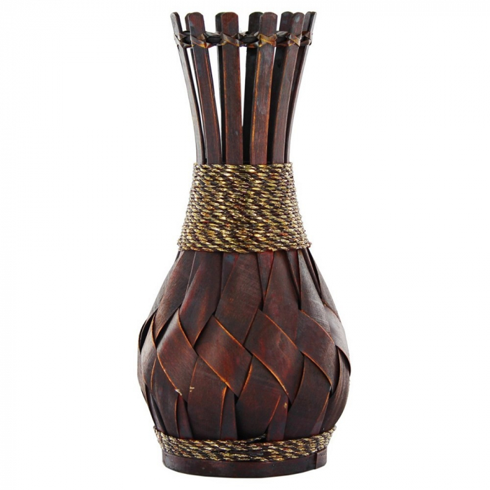 Vază decorativă din bambus 40 cm [0]