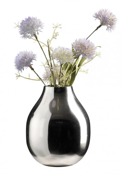 Vază decorativă din metal, argintie 12x15cm [1]