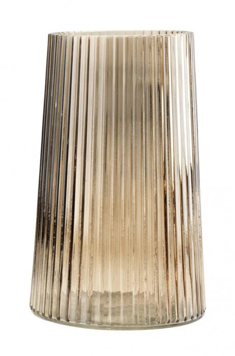 Vază decorativă din sticlă maro 13x20cm 0
