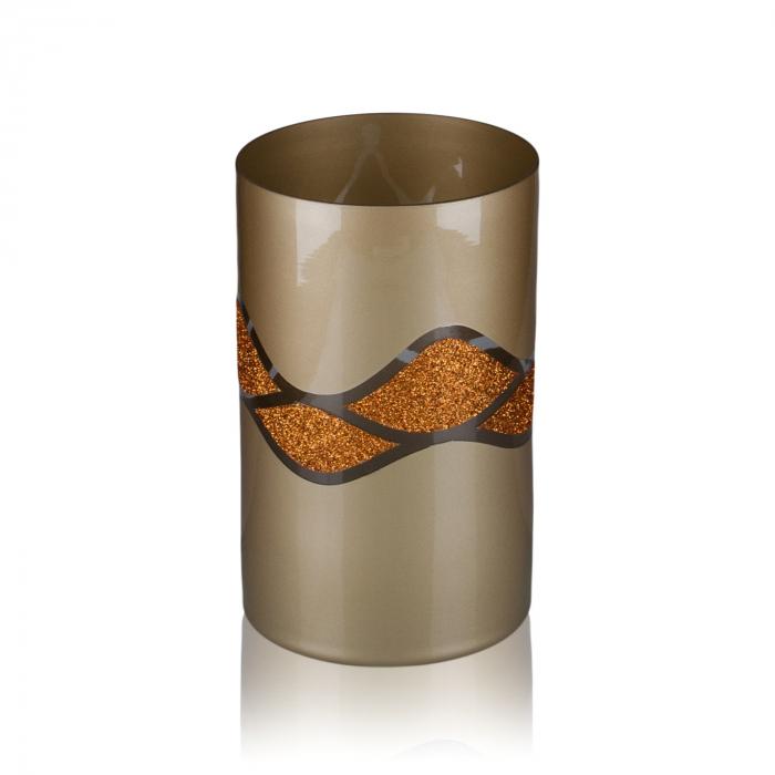 Vază decorativă din sticlă - 12x20cm 0