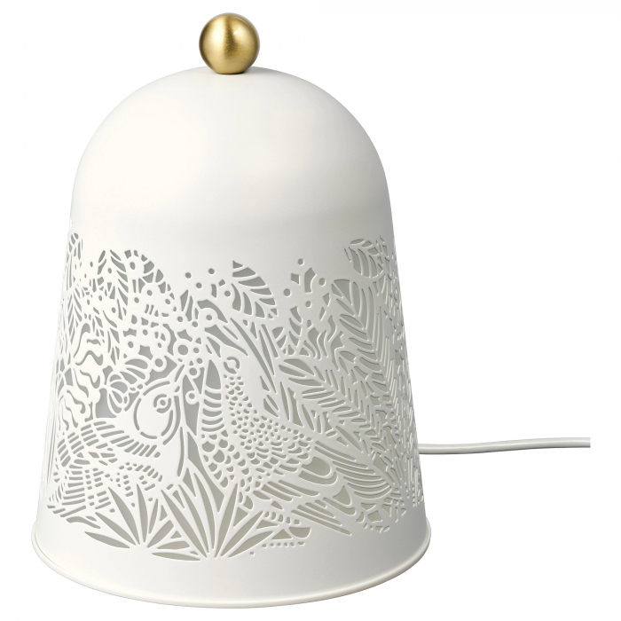 Veioză Bell, albă, cu model - 19cm [0]