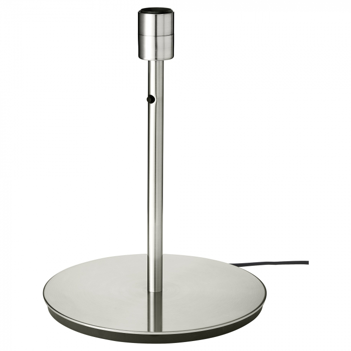 Veioză Dora, albă, cu bază metalică - 56cm 2