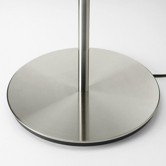 Veioză Dora, albă, cu bază metalică - 41cm 5