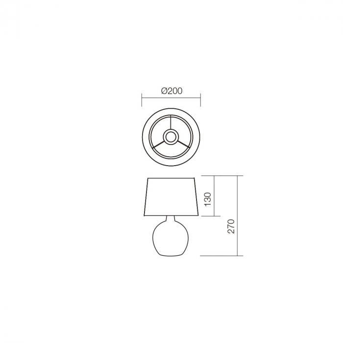 Veioză Home, 1 x E14, bej + alb 1