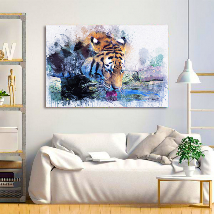 Tablou Canvas - Tiger Print 1