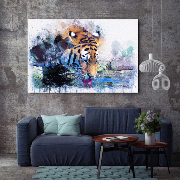 Tablou Canvas - Tiger Print 2