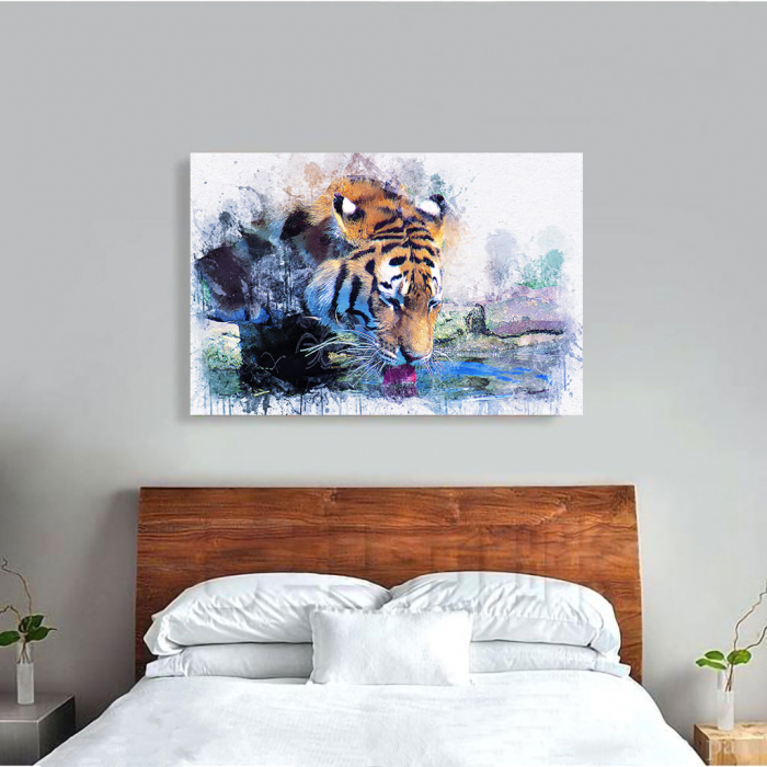 Tablou Canvas - Tiger Print 3