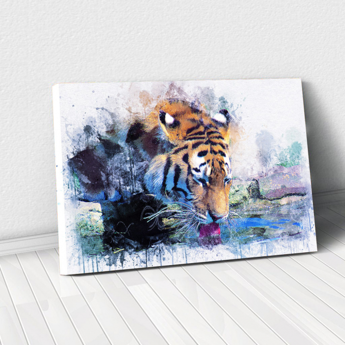 Tablou Canvas - Tiger Print 0