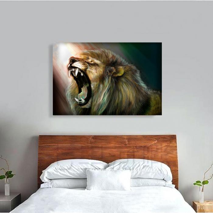 Tablou Canvas -Lion roar 1