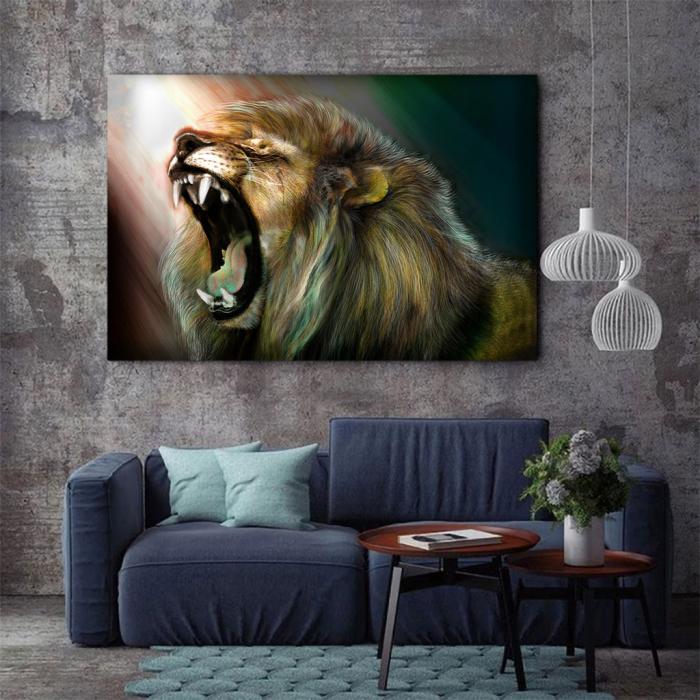 Tablou Canvas -Lion roar 2