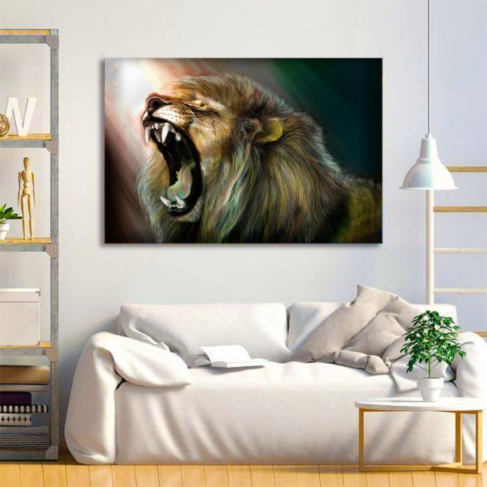 Tablou Canvas -Lion roar 3