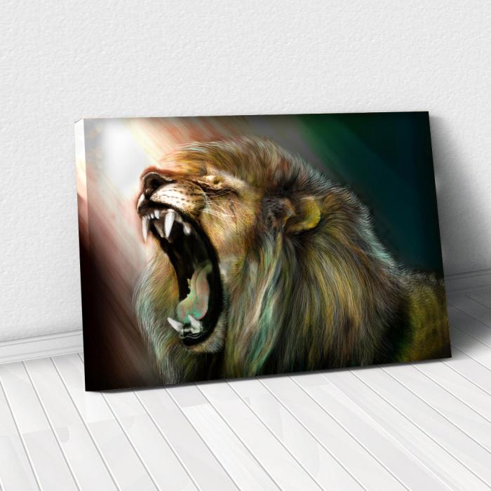 Tablou Canvas -Lion roar 0