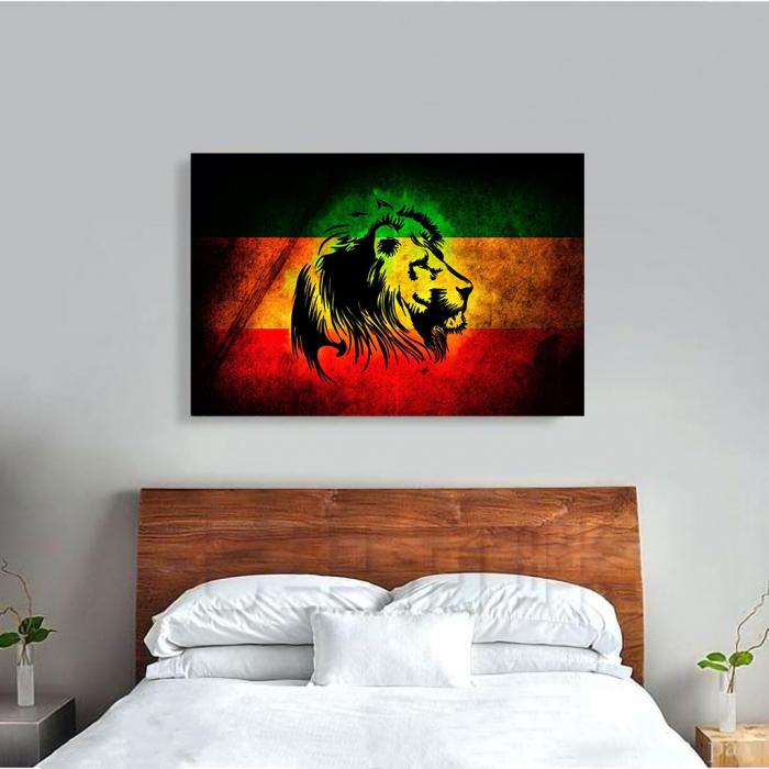 Tablou Canvas - Rasta Lion 1
