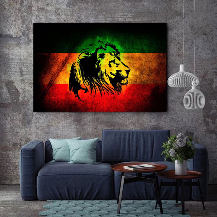 Tablou Canvas - Rasta Lion 2