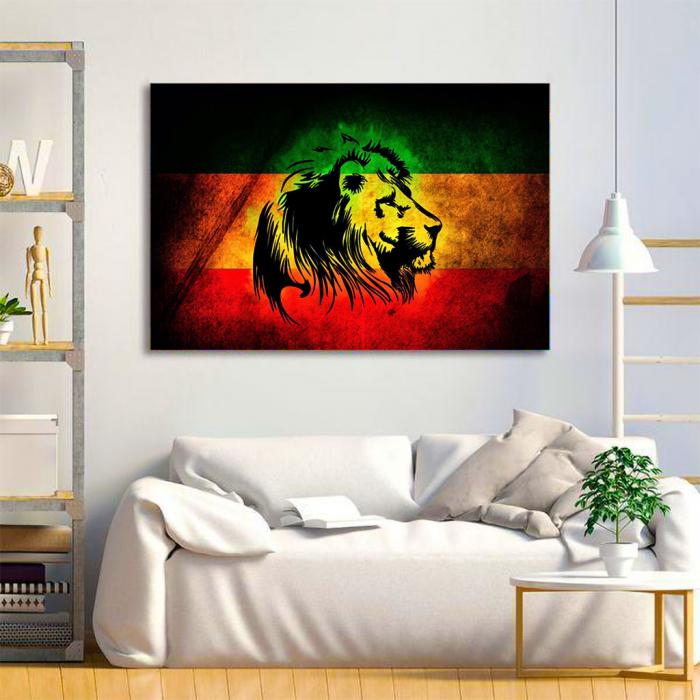 Tablou Canvas - Rasta Lion 3