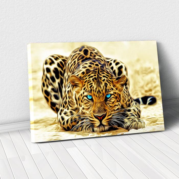 Tablou Canvas - Leopard 0
